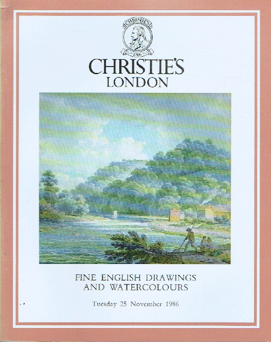 Christies November 1986 English Drawings and Watercolours, The Charitable Trust