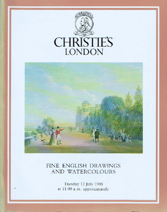 Christies July 1988 Fine English Drawings and Watercolours