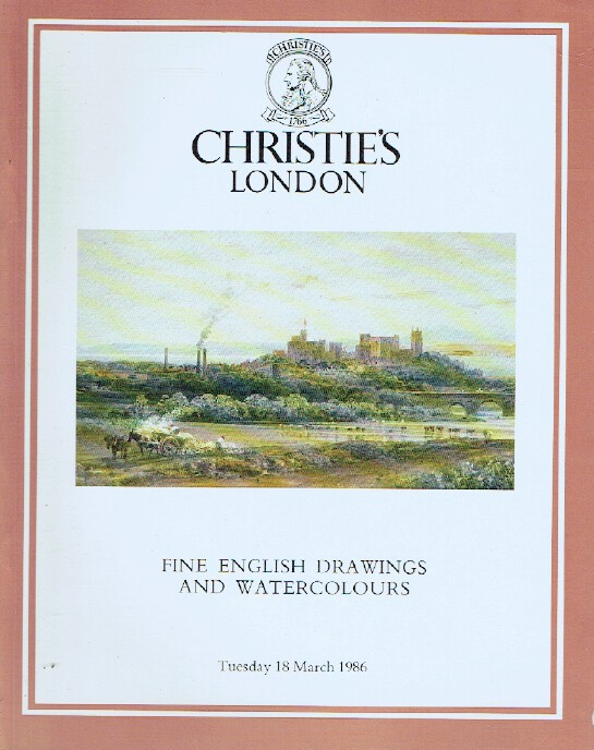 Christies March 1986 Fine English Drawings and Watercolours