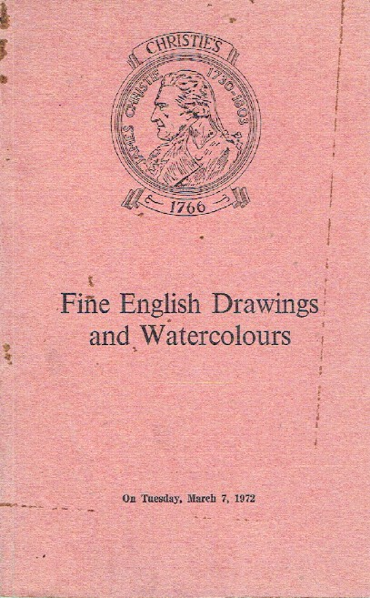 Christies March 1972 Fine English Drawings and Watercolours