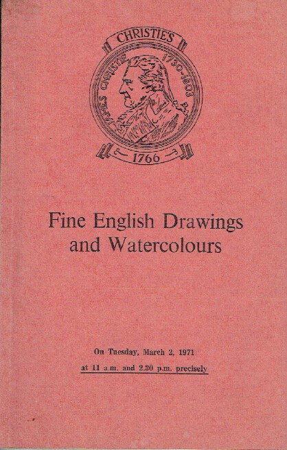 Christies March 1971 Fine English Drawings and Watercolours