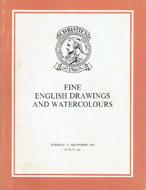 Christies November 1981 Fine English Drawings and Watercolours