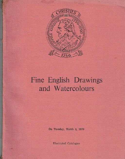 Christies March 1970 Fine English Drawings and Watercolours