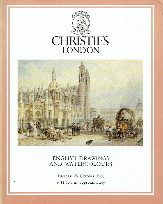 Christies October 1988 English Drawings and Watercolours