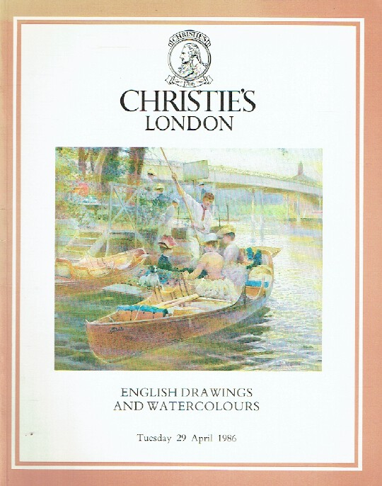 Christies April 1986 English Drawings and Watercolours