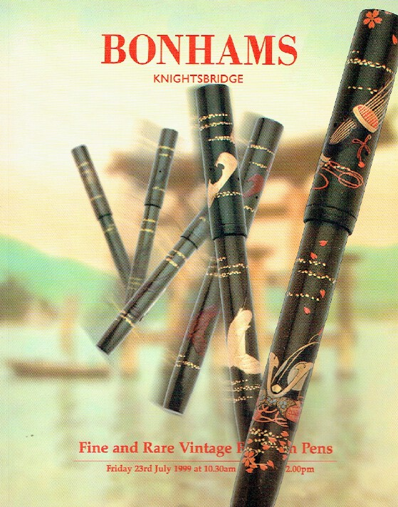 Bonhams July 1999 Fine and Rare Vintage Fountain Pens