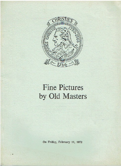Christies February 1972 Fine Pictures by Old Masters