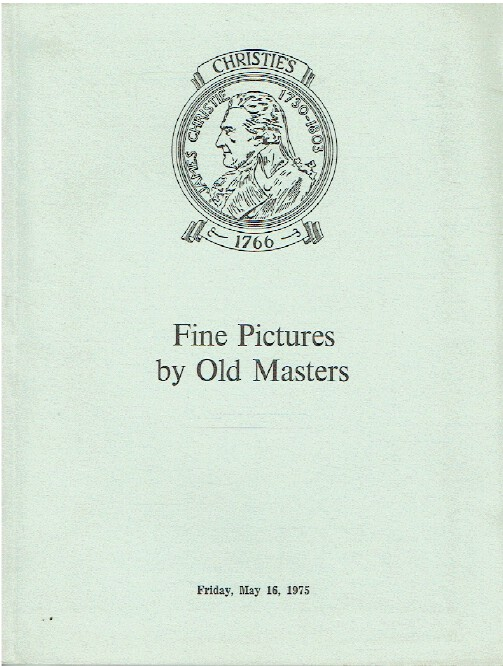 Christies May 1975 Fine Pictures by Old Masters