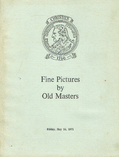 Christies May 1971 Fine Pictures by Old Masters