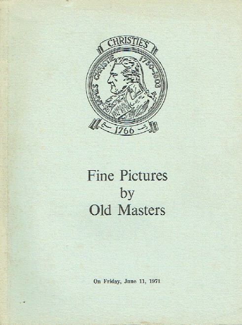 Christies June 1971 Fine Pictures by Old Masters