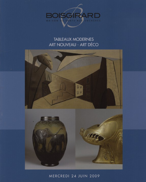 Boisgirard 2009 Modern Paintings, Art Nouveau & Art Deco