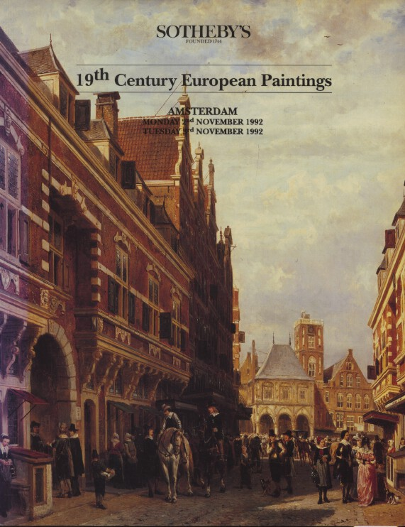 Sothebys November 1992 19th Century European Paintings