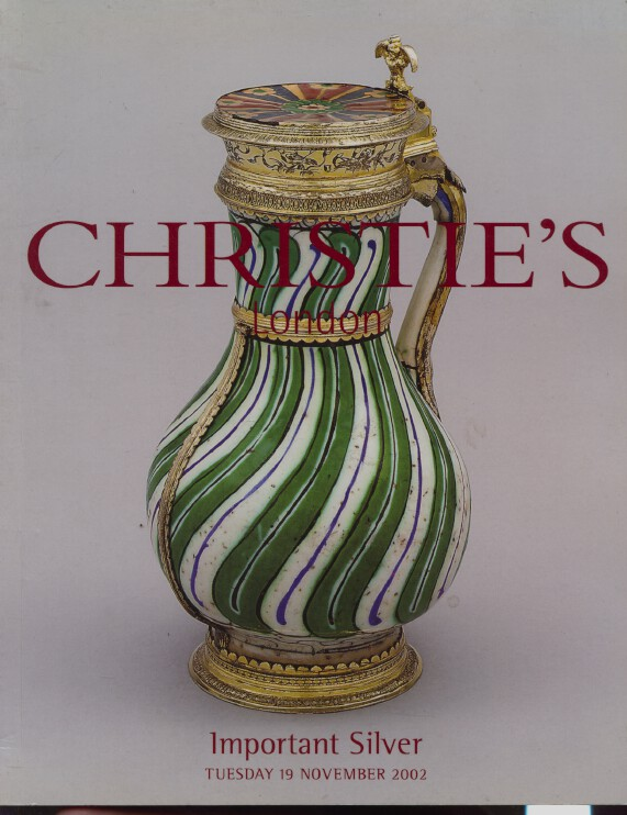 Christies November 2002 Important Silver