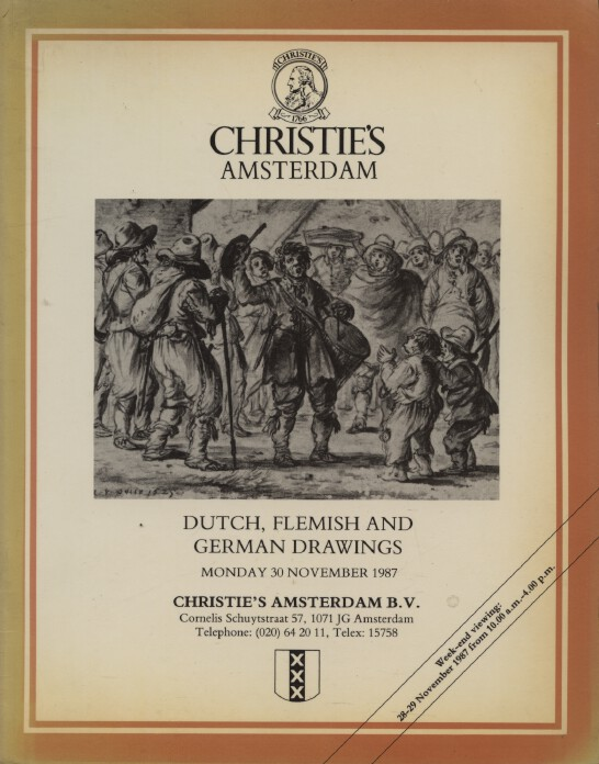 Christies November 1987 Dutch, Flemish & German Drawings
