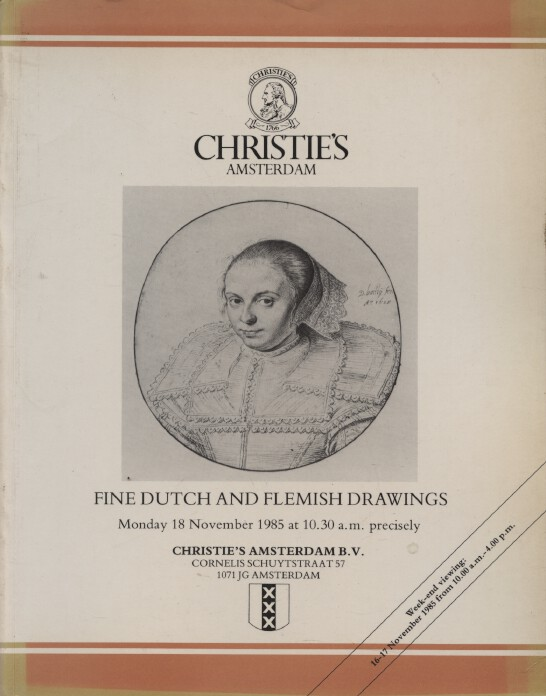 Christies November 1985 Fine Dutch & Flemish Drawings