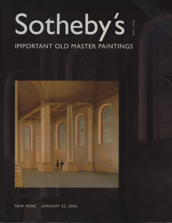 Sothebys January 2004 Important Old Master Paintings
