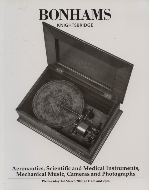 Bonhams March 2000 Aeronautics, Scientific & Medical Instruments, Cameras etc.