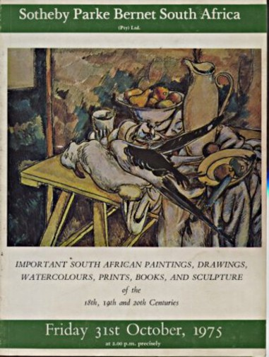 Sothebys October 1975 Important South African Paintings, Drawings, Watercolours