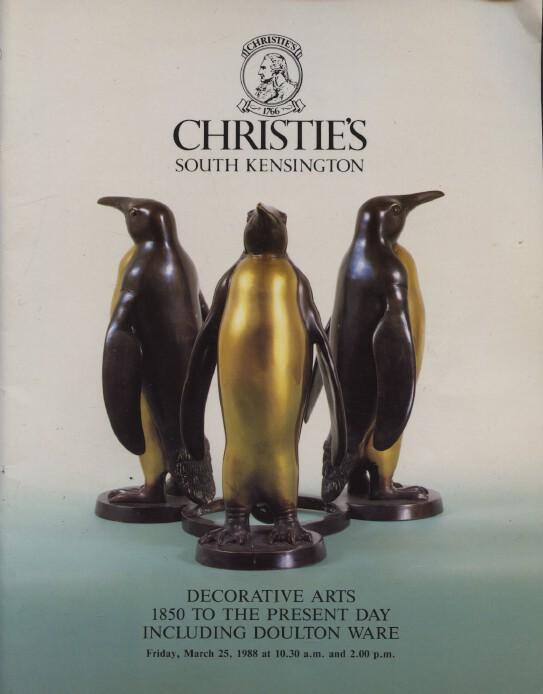 Christies 1988 Decorative Arts 1850 to Present Day, Doulton Ware