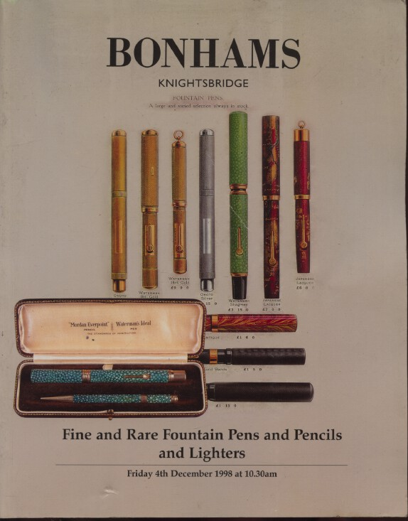 Bonhams 1998 Fine & Rare Fountain Pens & Pencils & Lighters